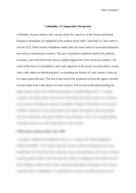 Perspective essays