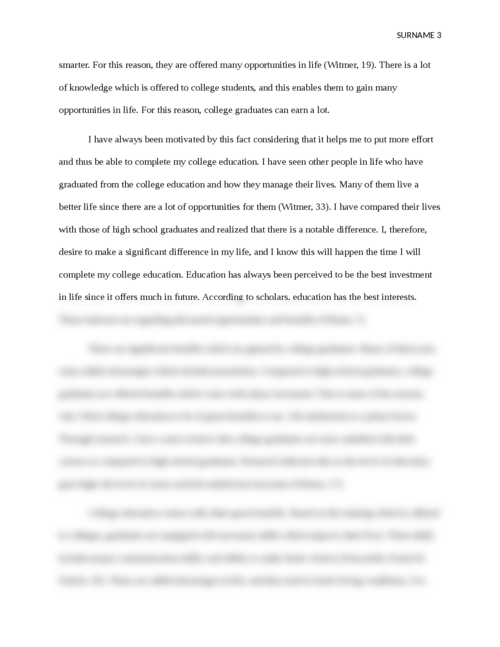 future education essay