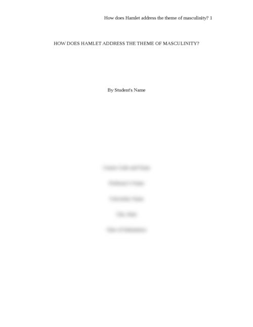 Hamlet essay prompts Hamlet Essay