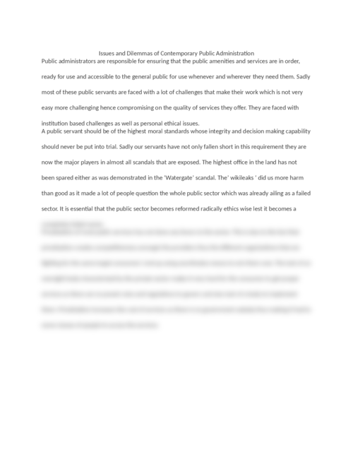 Public Administration paper thesis writing