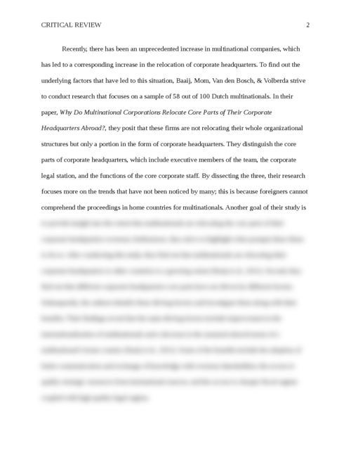corporations essays Free essays from bartleby | 1 introduction this case study looks into the growth of mahindra & mahindra limited (m&m), an indian multinational.