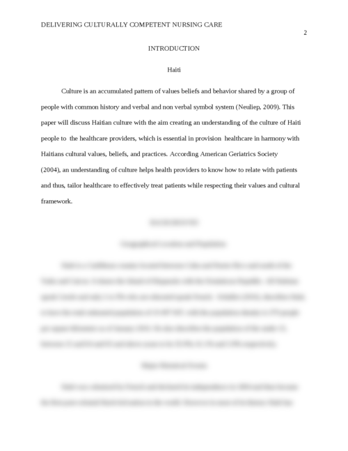 culturally competent paper essay Need quality thesis help from master's, doctoral degree holding writers thesispanda is the thesis writing service that gets the job done fast.