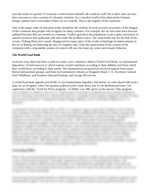 lifeboat ethics the case against helping Jamie smith dr spencer honors 150 university writing 26 september 2011 lifeboat ethics: the case against helping the poor through his use of a variety of analogies, extended sentences.