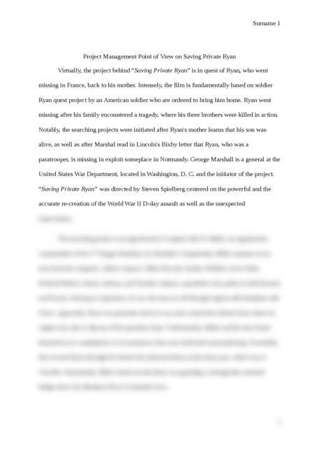 Project Management Point Of View On Saving Private Ryan  Essay Brokers Dfabbaceedb  Ccefeebcbf High School Essay Writing also English Literature Essay Topics  Business Management Essays