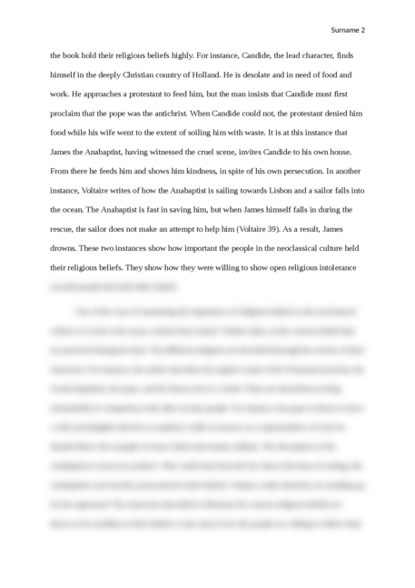Examples Of Essay Proposals  Higher English Reflective Essay also Graduating High School Essay Voltaire Candide  Essay Brokers Essays About Business