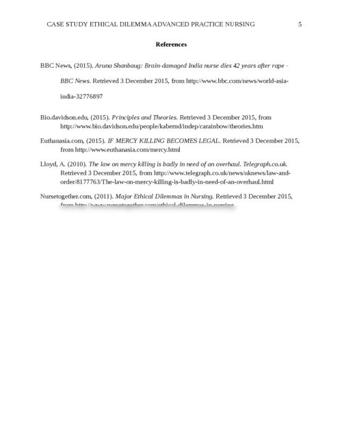 Nursing ethics essay