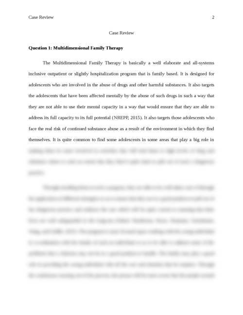 essay questions family therapy