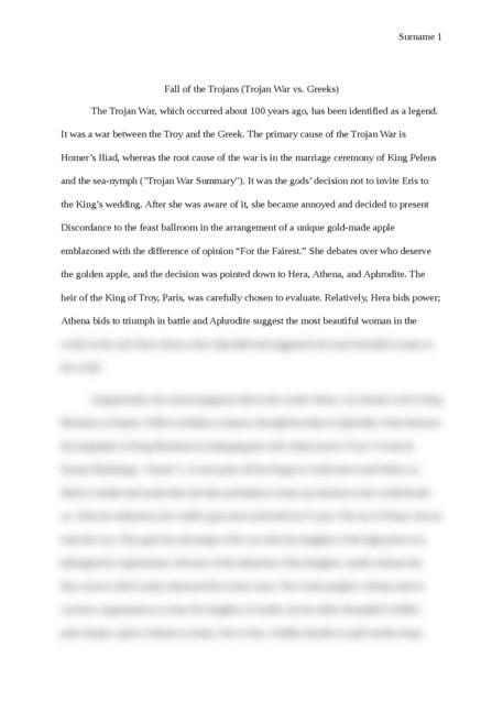 did the trojan war really happen essay