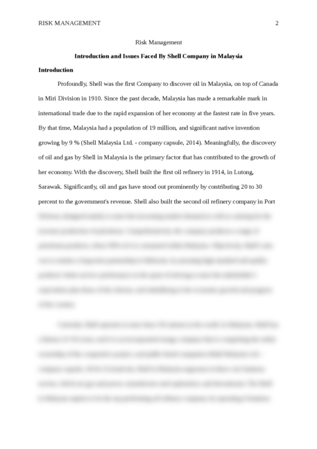 How To Write Essay Proposal  How To Write A Thesis Statement For An Essay also Thesis Statement For Essay Risk Management Introduction And Issues Faced By Shell  Science Fiction Essay Topics