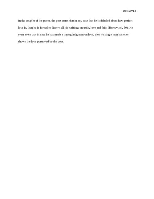 Sonnet 116 essay