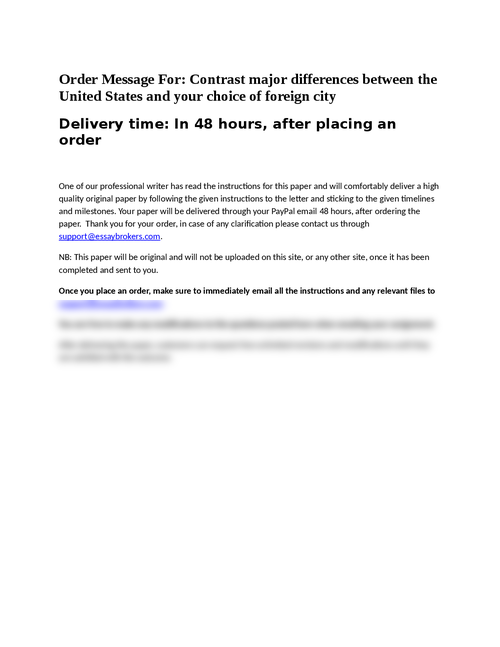 difference relating to two metropolitan areas essay