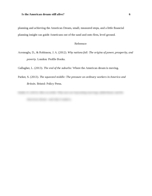 the american dream essays