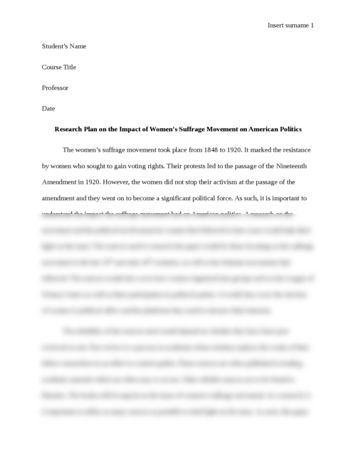 english papers essay brokers research plan on the impact of women s suffrage movement on american politics