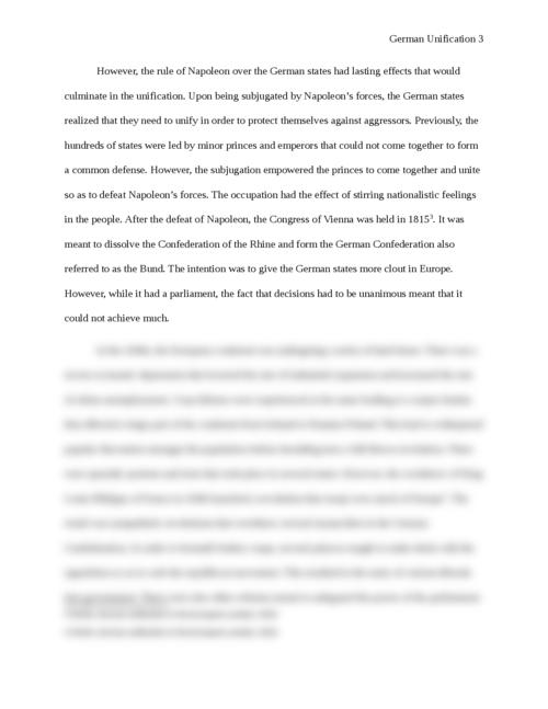 German unification essay