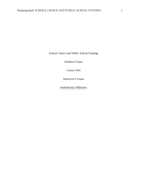essay on school funding Most people believe that students do better in well-funded schools and that public education should provide a level playing field for all children nearly half of the funding for public schools in the united states, however, is provided through local taxes, generating large differences in funding .