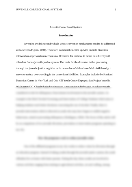 community based correctional systems criminology essay Examining does prison work for offenders criminology essay  and community-based  is presented focusing on failure of correctional systems.