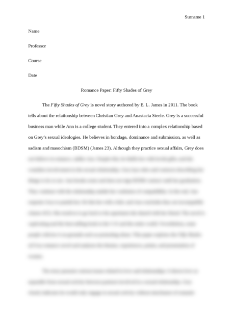 fifty shades of grey essay Grey retells fifty shades of grey from christian's perspective  student, and this  is what students are essentially bred to do in between essays.