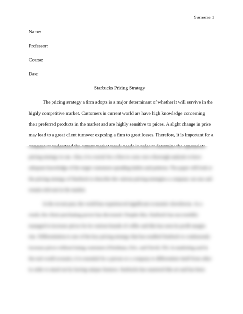pricing strategy 3 essay The tools you need to write a quality essay or term paper  (pricing strategy issue) dell's pricing is one of the most complicated decision areas encountered by .