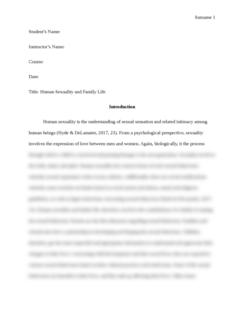 Apa Sample Essay Paper  Research Help Online also Research Paper Essay Topics Human Sexuality And Family Life  Essay Brokers High School Reflective Essay Examples