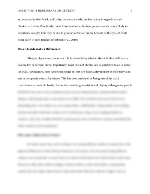 obesity and genetics essay