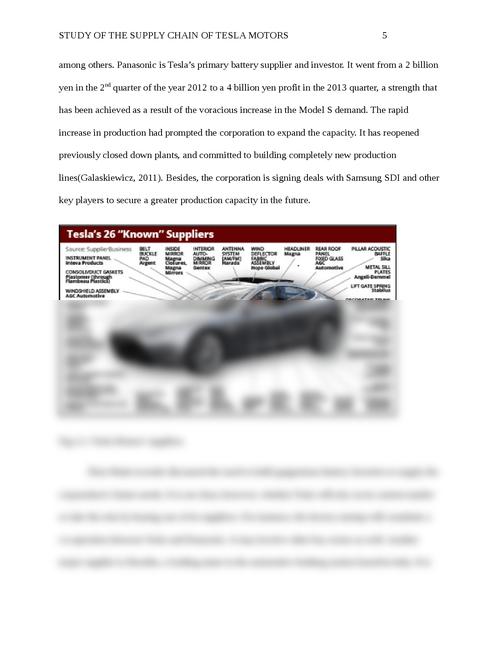 Study of the Supply Chain of Tesla Motors | Essay Brokers