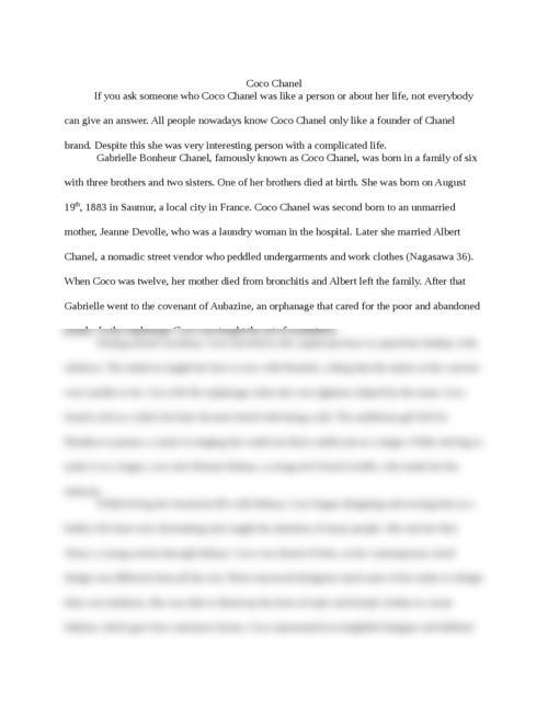 Proper format for an essay
