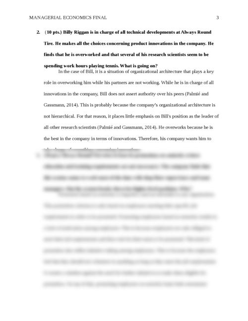 managerial economics paper