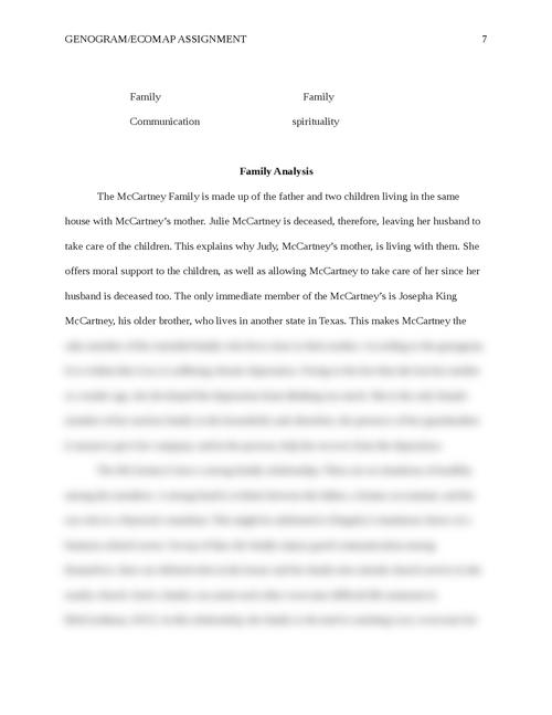 family analysis paper