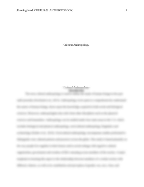 Anthropology essays