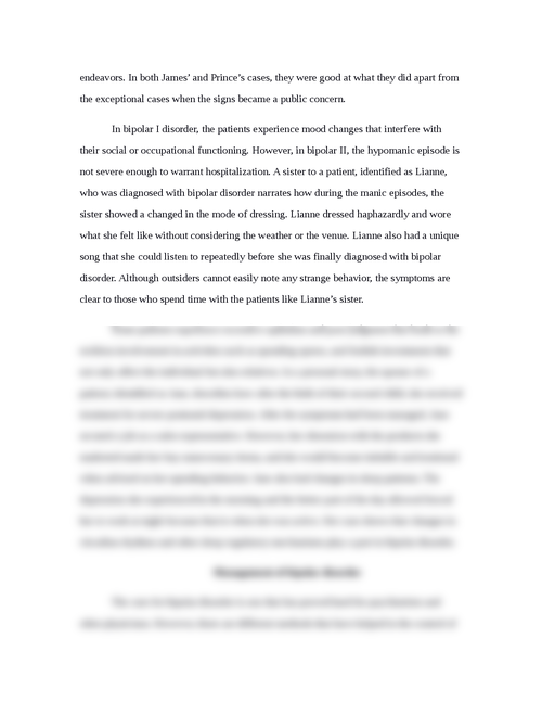 Example Of A Thesis Statement For An Essay  How To Write A Thesis For A Narrative Essay also Essay Thesis Statements Pediatric Bipolar Disorder Essay Personal Essay Examples For High School