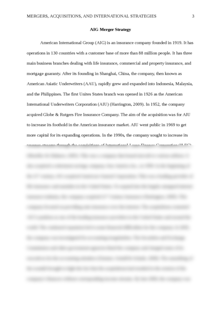 """mergers and acquisitions essay Page 